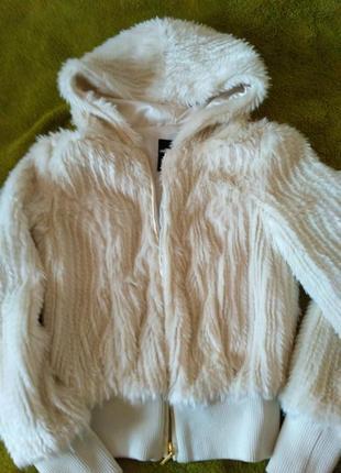 Шуба tally weijl куртка искусственный эко мех белая шубка