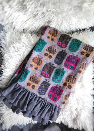 🦉 очень милый стильный шарфик с совушками😍 🦉. шарф 🧣