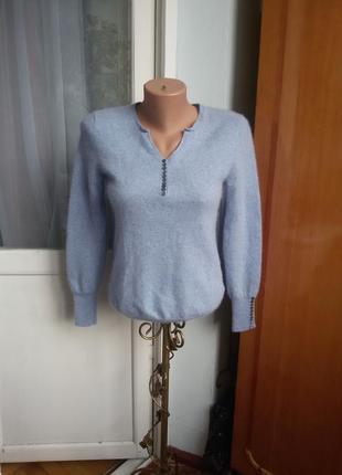 Роскошный кашемировый свитер caroll 100% кашемир