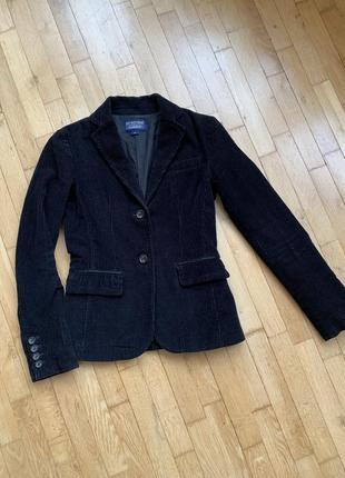 Оригинал ralph lauren чёрный вельветовый пиджак жакет