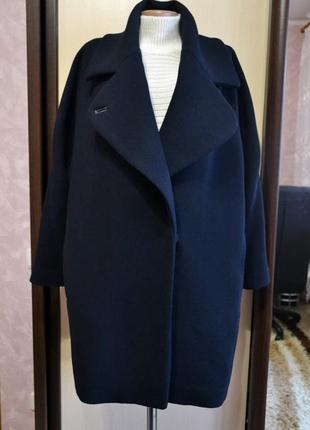 Шерстяное пальто-кокон mango