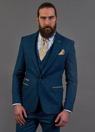 Дизайнерский💣 стильный пиджак+жилетка от известного бренда marc darcy london,m-l-xl