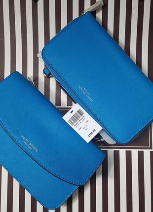 Фирменная кожаная сумочка-кошелёк henri bendel (сафьяновая кожа)