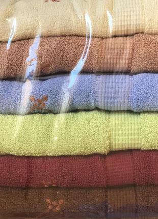 Банные махровые полотенца комплект 6 шт с венгрии размер 140*70
