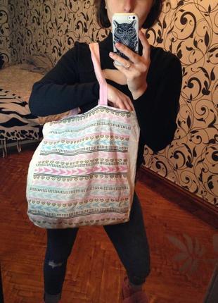 Сумка из мешковины,сумка primark,тканевая сумка