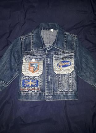 Джинсовый пиджак 86-92 см