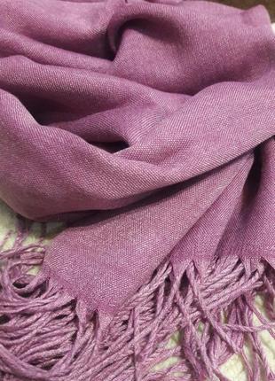 🌷роскошная сирень  шарф шерстяной качество люкс