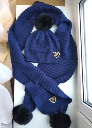 Комплект италия шапка шарф