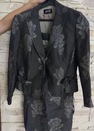 Женский брендовый льняной костюм jean paul gaultier