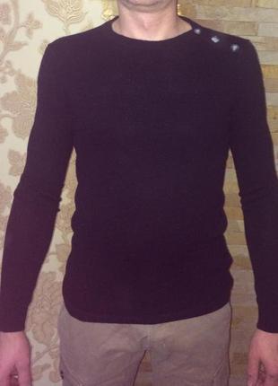 Легкий свитер джемпер мериносовая шерсть