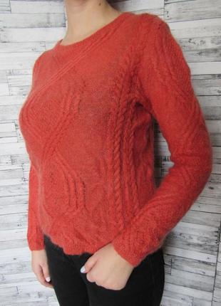 Стильный ажурный свитер шерсть мохер monsoon
