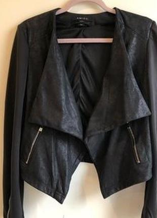 Комбинированная куртка накидка amisu