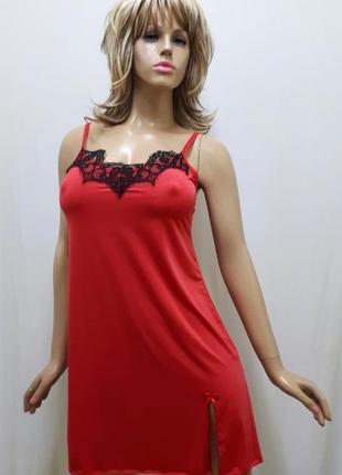 Короткая ночная рубашка с французским кружевом размеры