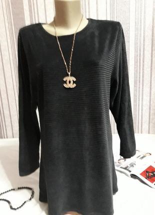 Модная  плюшевая туничка-платье большой размер!тотальная распродажа в профиле!