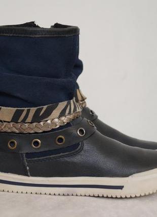 Стильные кожаные ботинки graceland