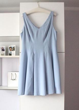 Новое голубое плотное платье от george