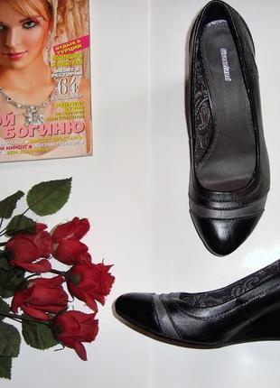 Код 062.  graceland! красивые туфли на удобной танкетке!