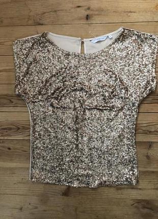 Блуза с пайетками new look