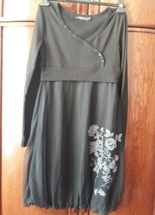 Платье- бренд ci cero s-m вискоза\сетка