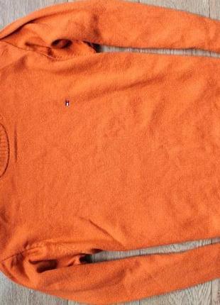 Яркий стильный свитер от tommy hilfiger 100% шерсть л-хл размер