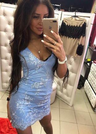 Платье с кружевом новогодний вариант