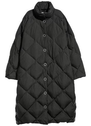 Пуховик пальто оверсайз h&m premium quality пух/перо