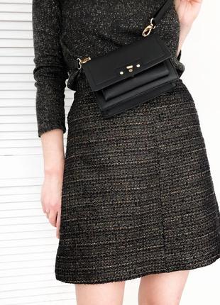 Твидовая юбка с блестящей нитью