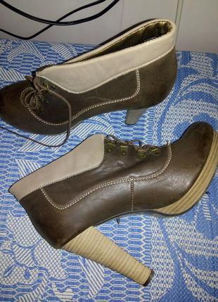 Кожанные натуральные ботиночки