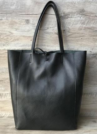 Женская кожаная итальянская сумка черная