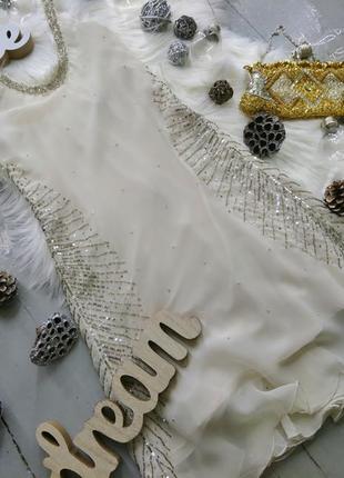 Коктейльное  вечернее нарядное праздничное платье с открытой спиной и бисером №422
