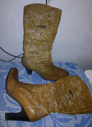 Кожанные сапоги,ботинки,деми