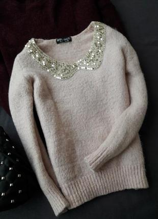 Sale! свитер плюш травка размер хс с паетками