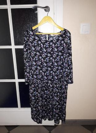 Платье в цветочек h&m