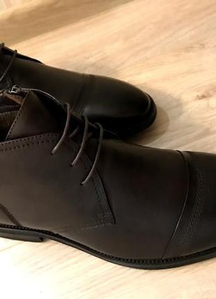 Элегантные зимние кожаные ботинки респект 44