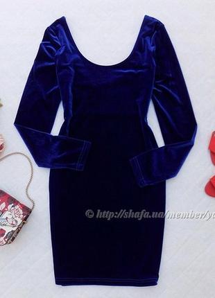 Очень красивое велюровое платье miss posh, размер 12 (см. замеры)