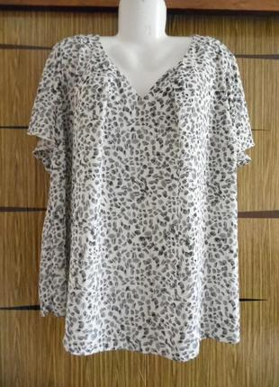 Блуза лето, новая bonmarche размер 24 – идет на 58-60+