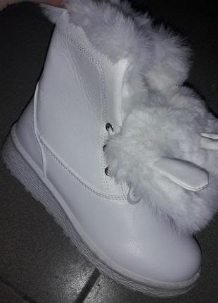 С 36 по 41 ушки язык отворот зимние ботинки зимові на меху полусапожки зима женские