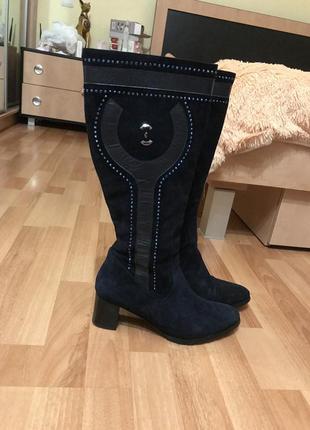 Нереально красивые кожаные сапоги ботинки ботфорты