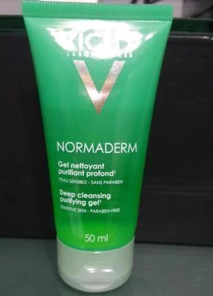 Vichy normaderm purifying cleansing gel глубоко очищающий гель для умывания
