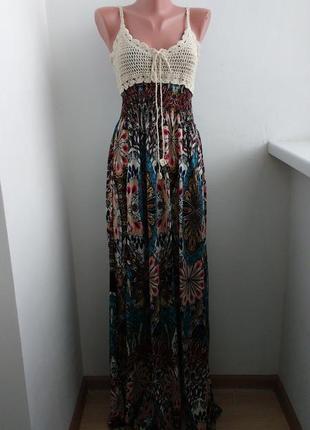 Р l-xl красивое макси платье !