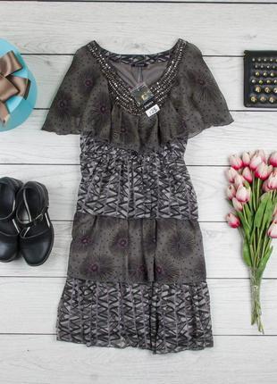 Платье шифоновое с паетками  от papaya рр 12 наш 46
