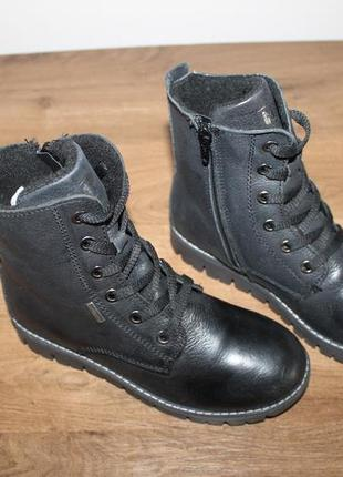 Кожаные ботинки с пропиткой waterproof, 33 размер