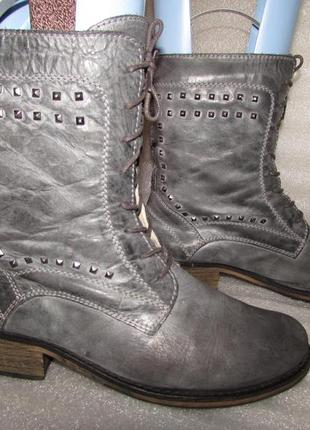 Крутые кожаные ботинки ~miss selfridge~ португалия р 40-41