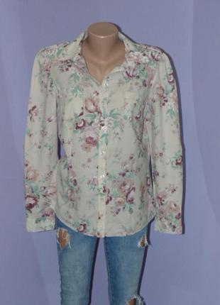 Фирменная рубашка/цветочный принт