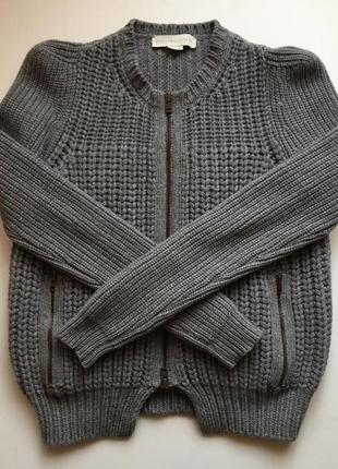 Эксклюзивный свитер куртка бомбер stella mccartney 100% кашемир