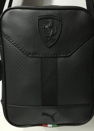 Спортивная молодежная сумка через плечо puma ferrar