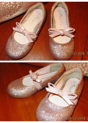 Блестящие искрящиеся туфельки next для вашей маленькой принцессы