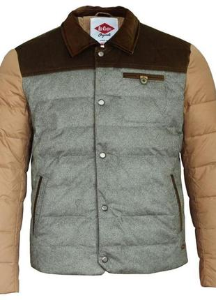 Стильная мужская куртка, 50% утиный пух, 50% перо