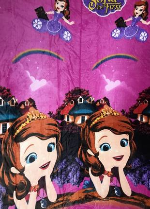 Детское покрывало плед велюровый полуторный принцесса софия