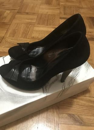 Туфли из натуральной замши marco pini